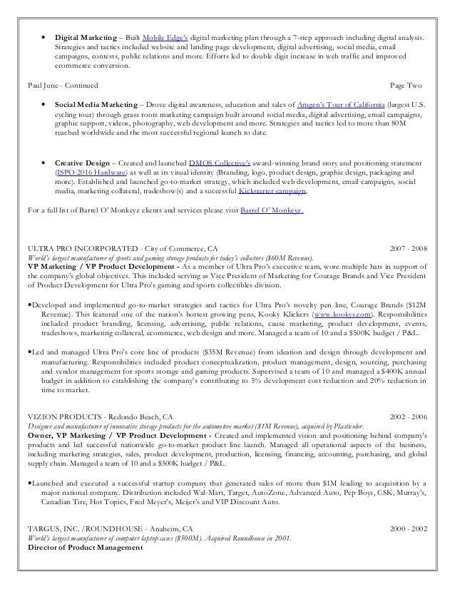2. U2022 Digital Marketing ...  Vp Marketing Resume