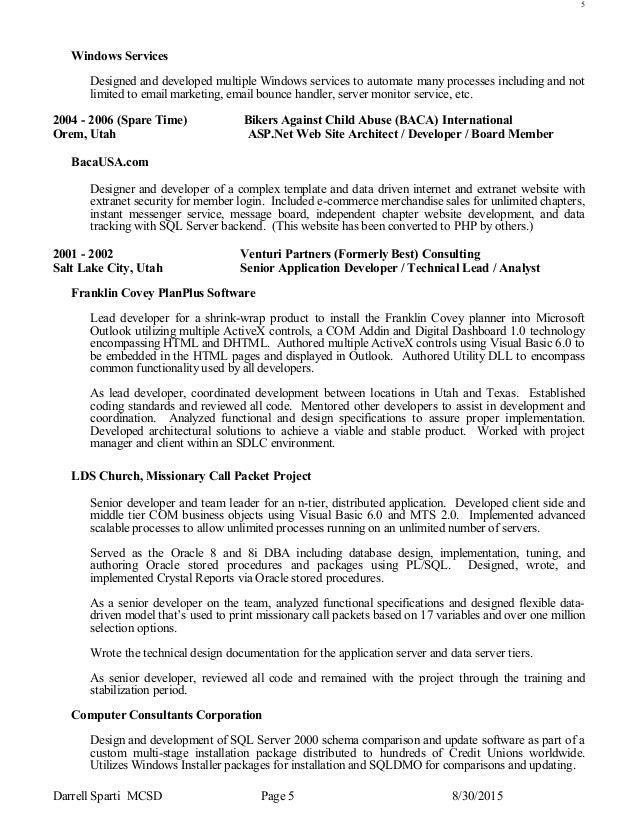 lds missionary resume