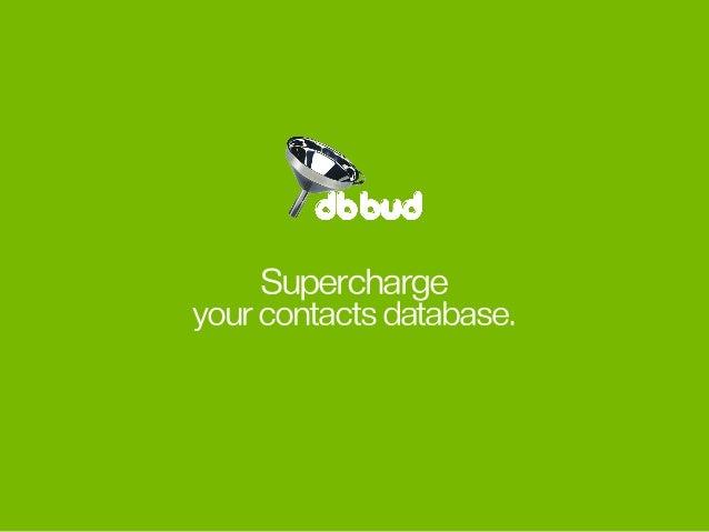 Superchargeyourcontactsdatabase.