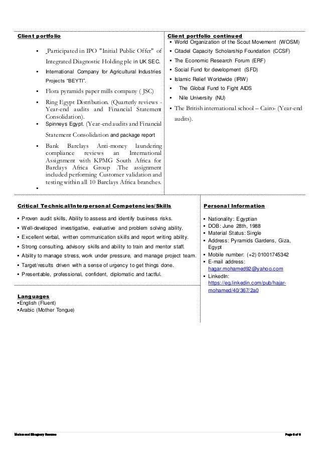 resume hajar mohamed cia