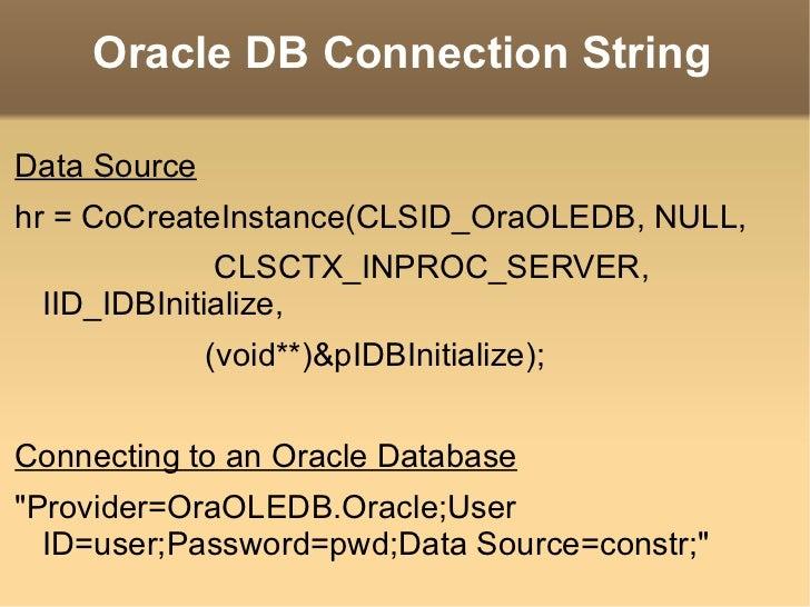 OLE-DB vs ODBC