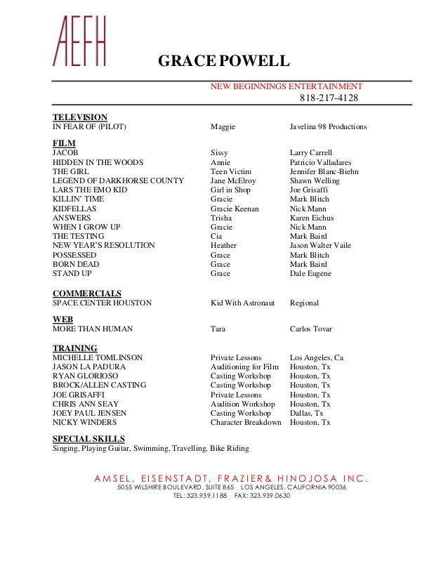 GRACEPOWELL AEFH Resume