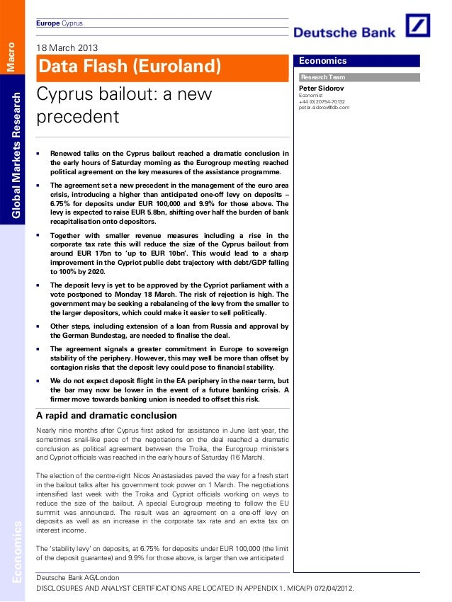 Europe Cyprus                           18 March 2013Macro                           Data Flash (Euroland)                ...