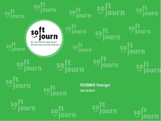 RDBMS Design06/12/2011