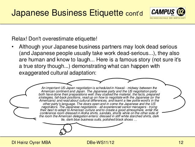 business etiquette in japan essay Be a business pro with this guide to international business etiquette.