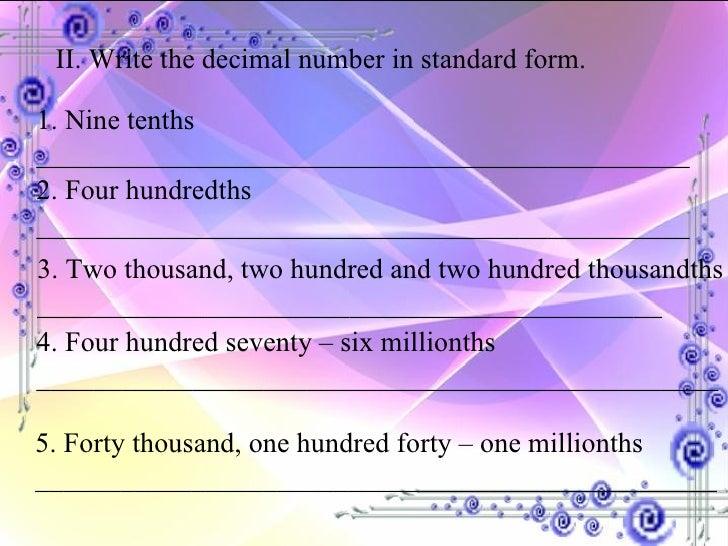 DECIMAL NUMBERS2
