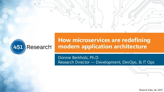 How microservices are redefining modern application architecture Donnie Berkholz, Ph.D.