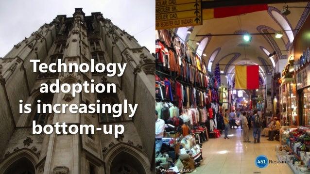 Technology adoption is increasingly bottom-up 5 Wikipedia: G.dallorto