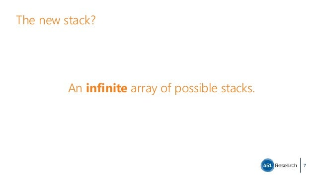 The new stack? 7 An infinite array of possible stacks.