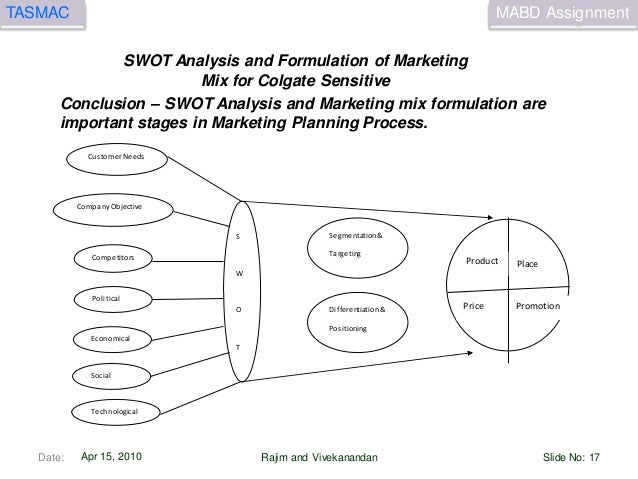 marketing mix of colgate Marketing mix - click the link to read about the marketing mix of colgate swot analysis - click the link to read about the swot analysis of colgate  mission - to become a fast growing consumer goods industry by developing and delivering innovative new products to consumers and marketing them more efficiently.