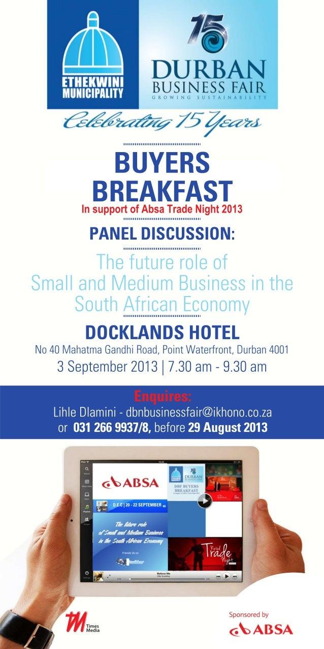 Dbf buyers breakfast invitation