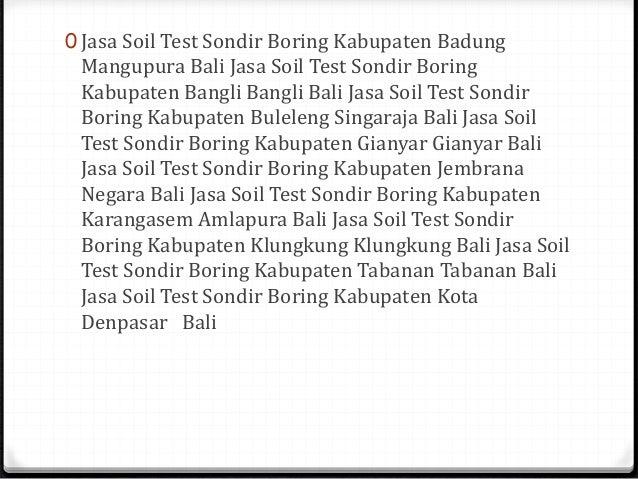Jasa Tes Tanah Sondir Boring Kota Yogyakarta Yogyakarta