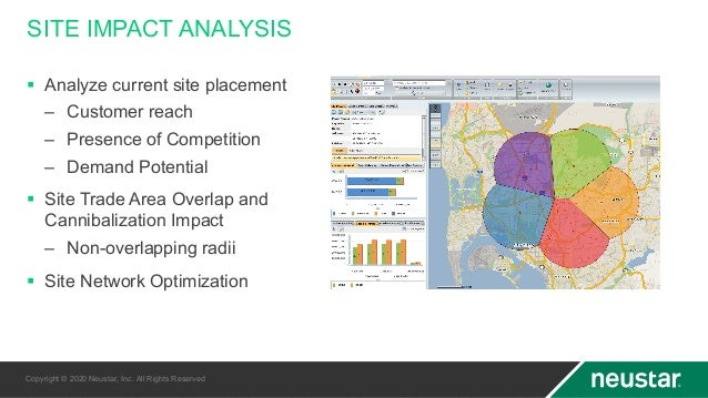 SITE IMPACT ANALYSIS § Analyze current site placement – Customer reach – Presence of Competition – Demand Potential § Site...
