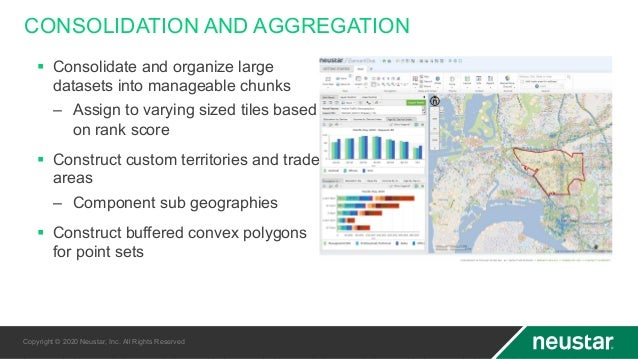 CONSOLIDATION AND AGGREGATION § Consolidate and organize large datasets into manageable chunks – Assign to varying sized t...