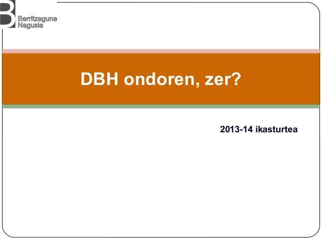 DBH ondoren, zer? 2013-14 ikasturtea
