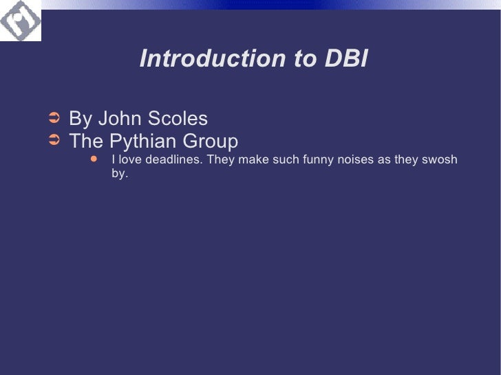 Into to DBI with DBD::Oracle