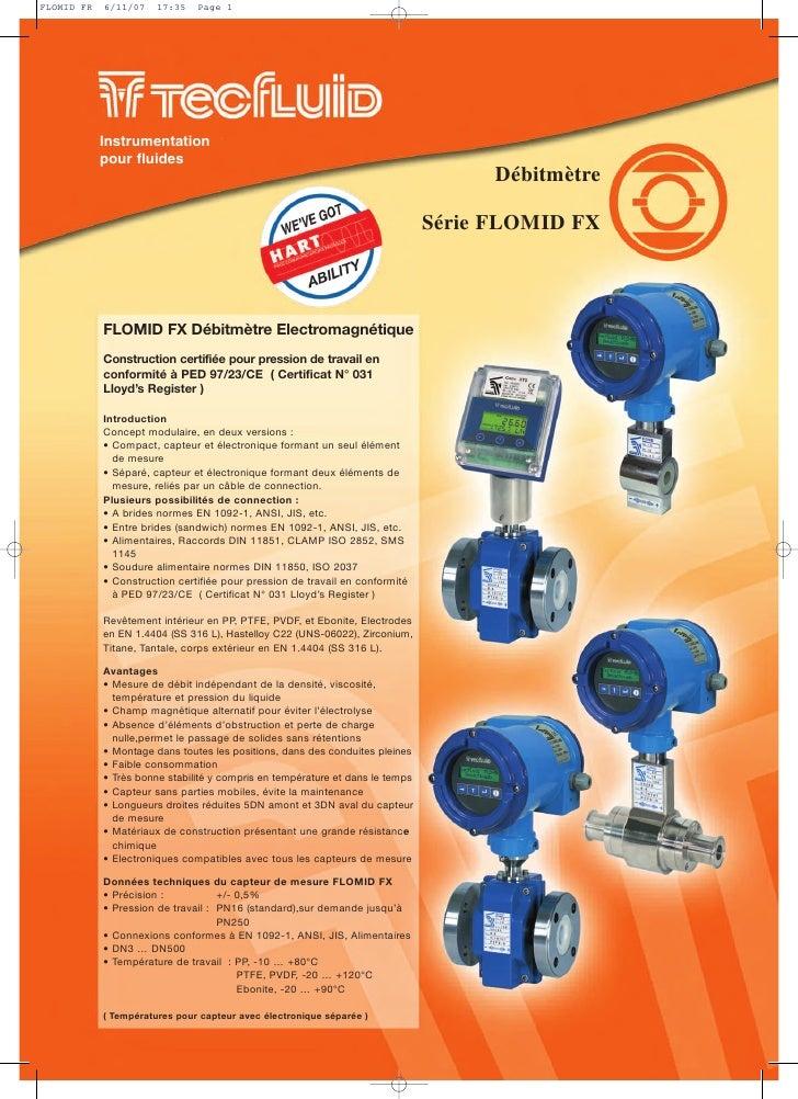 FLOMID FR   6/11/07    17:35   Page 1            Instrumentation            pour fluides                                  ...