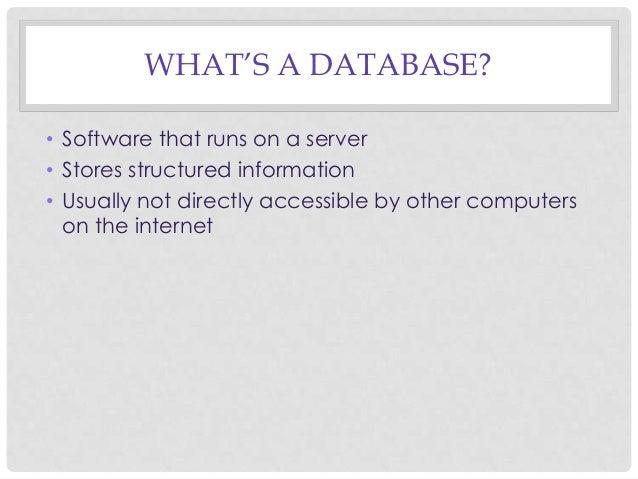 Introduction to CVJ531: Database Journalism Slide 3