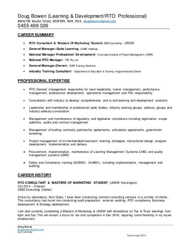 Dbm resume