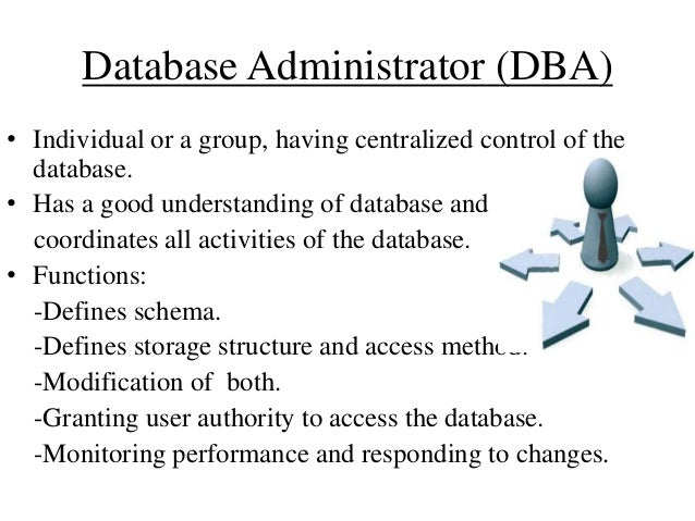 functions of database administrator Database Management System