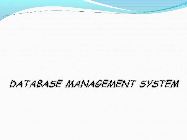 Problems with file processing systems Inconsistent data Inflexibility Limited data sharing Poor enforcement of standa...