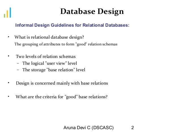 Dbms Ii Mca Ch8 Db Design 2013