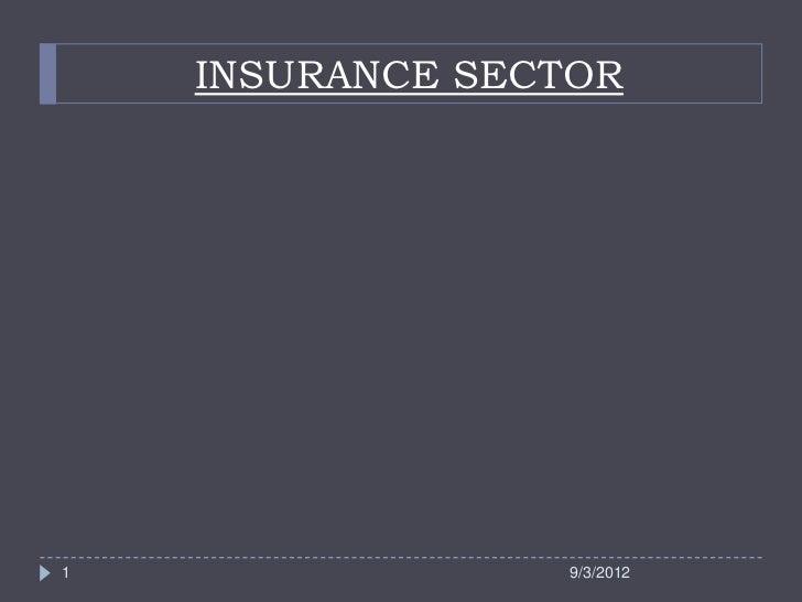 INSURANCE SECTOR1                9/3/2012