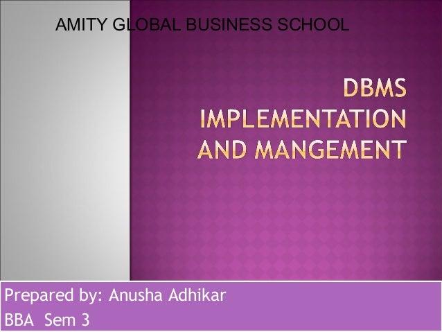 Prepared by: Anusha Adhikar BBA Sem 3 Prepared by: Anusha Adhikar BBA Sem 3 AMITY GLOBAL BUSINESS SCHOOL