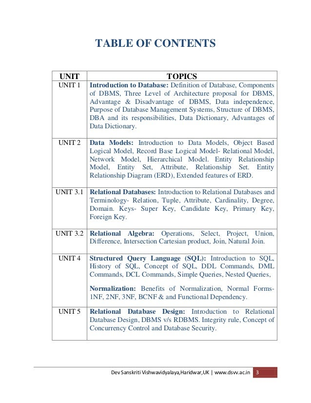 Dbms notesization 2014 ccuart Choice Image