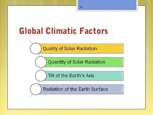 Global Climatic Factors 14
