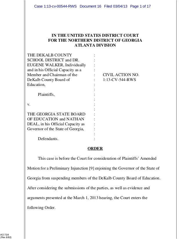 Case 1:13-cv-00544-RWS Document 16 Filed 03/04/13 Page 1 of 17                           IN THE UNITED STATES DISTRICT COU...