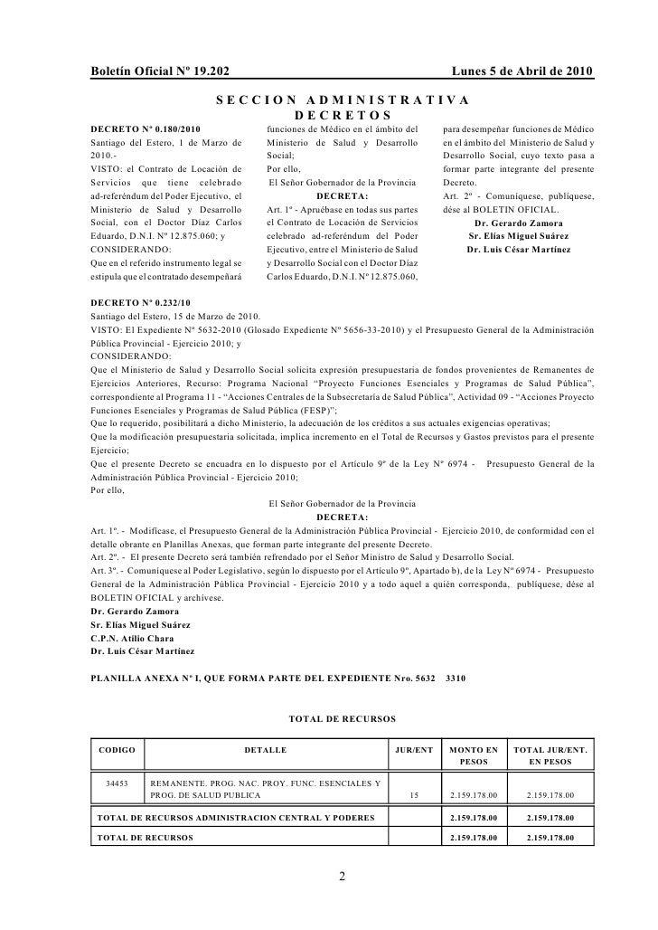 Boletín Oficial Nº 19.202                                                                  Lunes 5 de Abril de 2010       ...