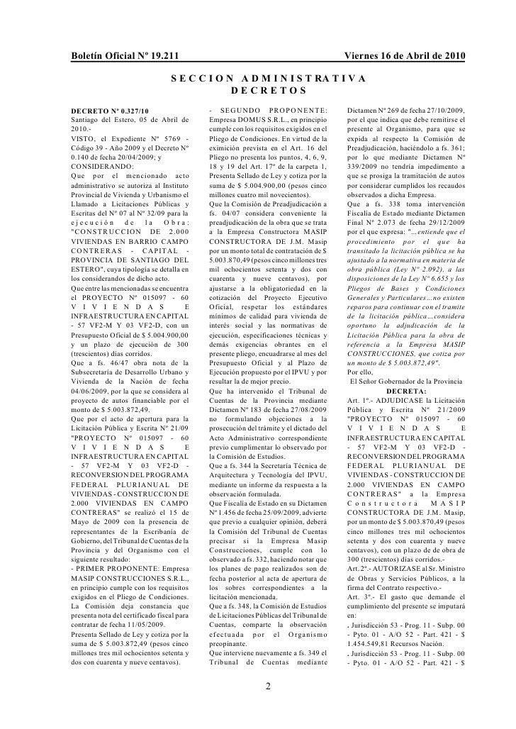 Boletín Oficial Nº 19.211                                                              Viernes 16 de Abril de 2010        ...