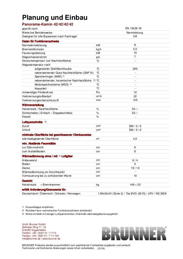 Brunner Panorama Kamin 42/42/42/42