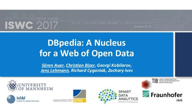 DBpedia: A Nucleus for a Web of Open Data Sören Auer, Christian Bizer, Georgi Kobilarov, Jens Lehmann, Richard Cyganiak, Z...