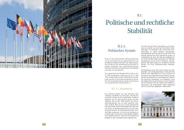 2322 II.1. Politischeundrechtliche Stabilität II.1.1. Politisches System Polen ist eine demokratische Mehrparteienrepub- l...