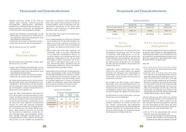 4544 Folgende Instrumente werden an der GPW ge- handelt: Aktien, Anleihen, Vorzeichnungsrechte, Termingeschäfte, Optionssc...