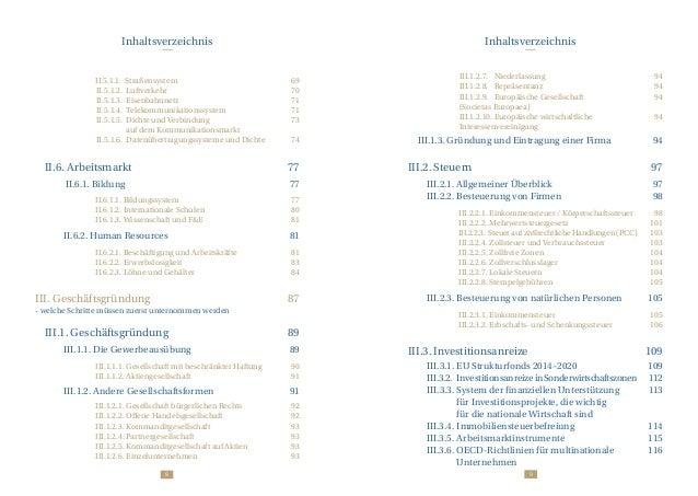 98 Inhaltsverzeichnis Inhaltsverzeichnis  II.5.1.1. Straßensystem 69 II.5.1.2.Luftverkehr 70 II.5.1.3.Eisenbah...