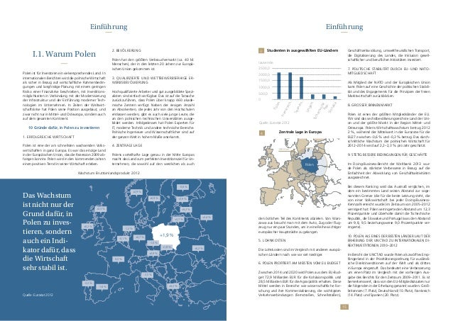 1514 I.1. Warum Polen Polen ist für Investoren ein vielversprechendes Land. In internationalen Berichten wird die polnisch...