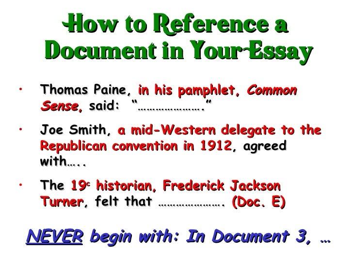Thomas paine common sense essay