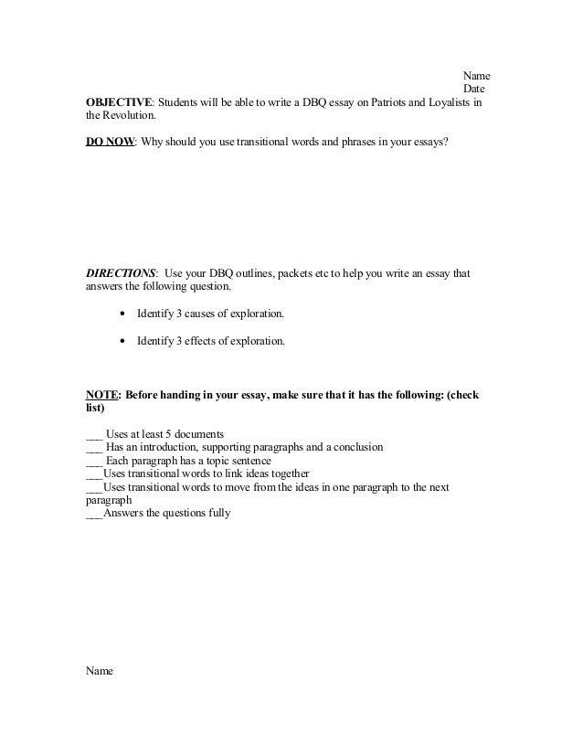 Dbq essay format yelom agdiffusion com