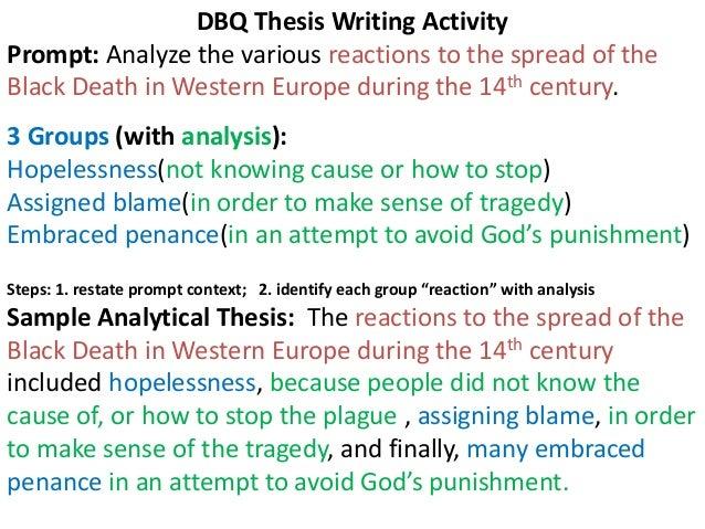 dbq essay thesis