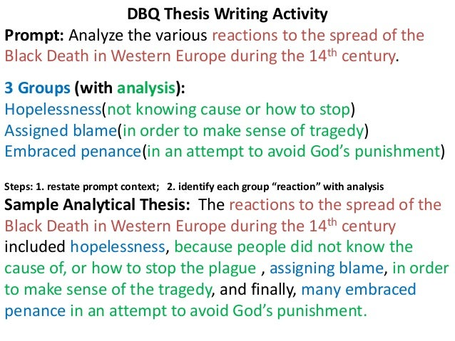 DBQ Sample Essay