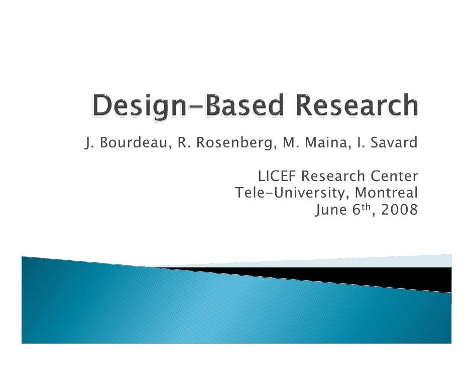 J. Bourdeau, R. Rosenberg, M. Maina, I. Savard                         LICEF Research Center                     Tele-Univ...