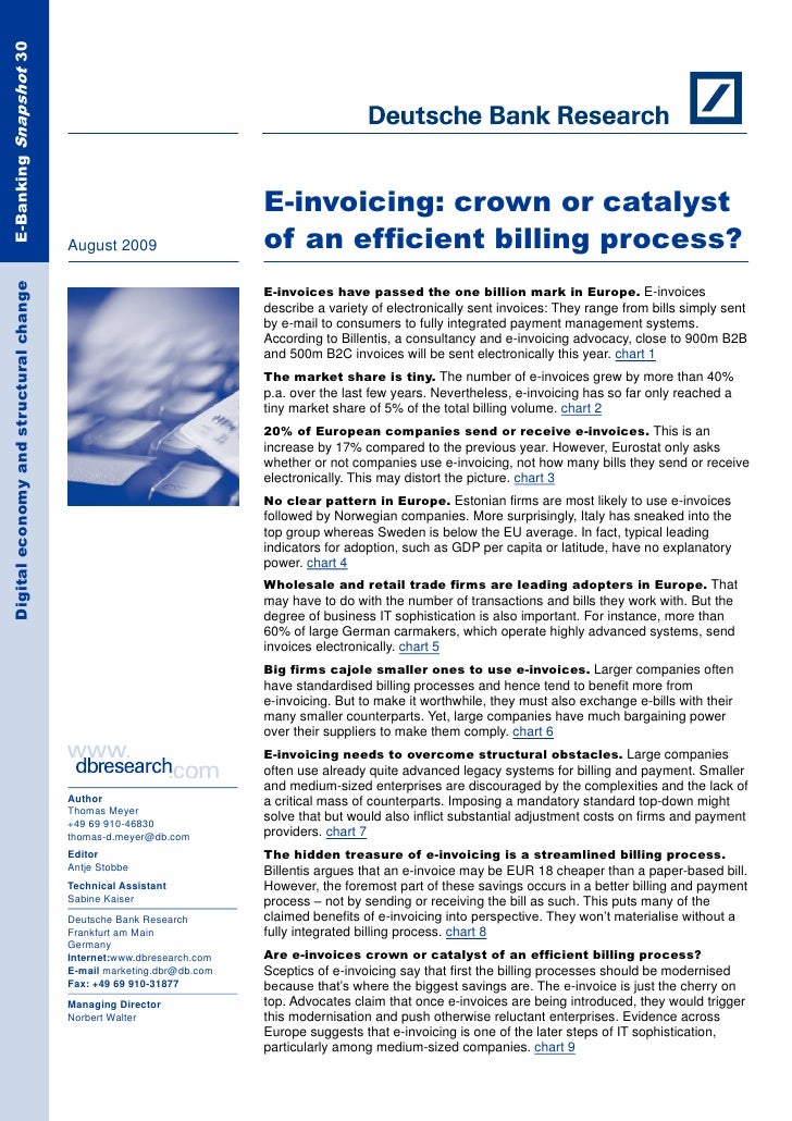 E-Banking Snapshot 30                                                                            E-invoicing: crown or cat...