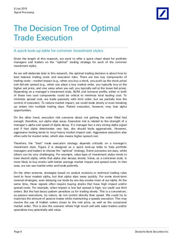 Optimal vwap trading strategy