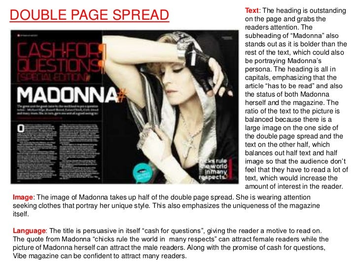 Text: The heading is outstandingDOUBLE PAGE SPREAD                                                          on the page an...