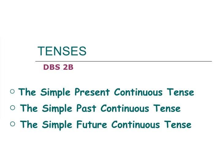 TENSES <ul><li>The Simple Present Continuous Tense </li></ul><ul><li>The Simple Past Continuous Tense </li></ul><ul><li>Th...