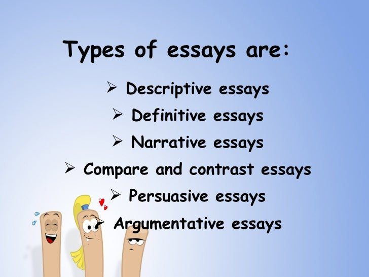 3 types of narrative essays You would learn • meaning and uses of narrative essays • various strategies of writing narrative essays.