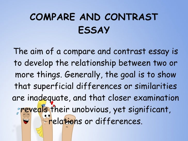 2 types of compare and contrast essays